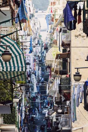 naples: Narrow streets of Naples. Naples, Campania, Italy. Stock Photo