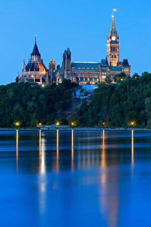 Peace Tower and Parliament Building. Ottawa, Ontario, Canada