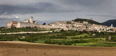 assisi: Panorama of Assisi. Assisi, Umbria, Italy Stock Photo