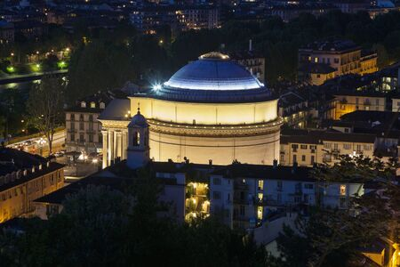 disctrict: Gran Madre Church in Turin. Turin, Piedmont, Italy