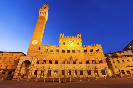 Siena town hall. Siena, Tuscany, Italy Stock Photo