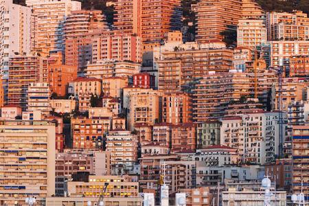 alpes maritimes: Monaco apartment buildings at sunrise. Monaco.