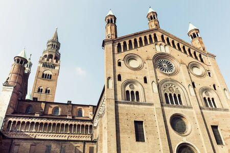 Cremona의 피아자 델 Comune에 Cremona 성당. 크레 모나, 롬바르디아, 이탈리아 스톡 콘텐츠