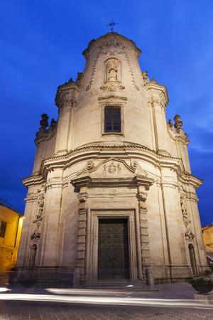 matera: Purgatorio Church in Matera. Matera, Basilicata, Italy