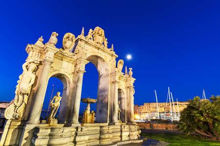 Immacolata Fountain in Naples. Naples, Campania, Italy