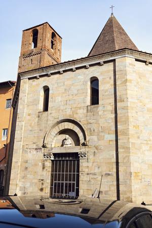 pisa: Small church in Pisa. Pisa, Tuscany, Italy.
