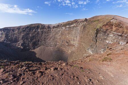 Le cratère du volcan Vésuve. Campanie, Italie.