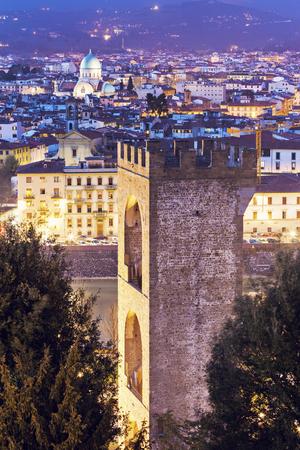 synagogue: Tower and synagogue at sunset. Florence, Tuscany, Italy