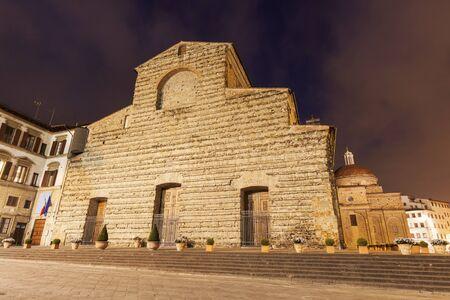 lorenzo: The Basilica di San Lorenzo (Basilica of St Lawrence) in Florence. Florence, Tuscany, Italy