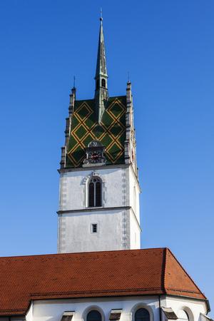 friedrichshafen: St. Nikolaus Church in Friedrichshafen. Friedrichshafen, Baden-Wurttemberg, Germany.