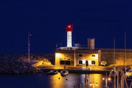 d'azur: Menton lighthouse. Menton, Provence-Alpes-Cote dAzur, France