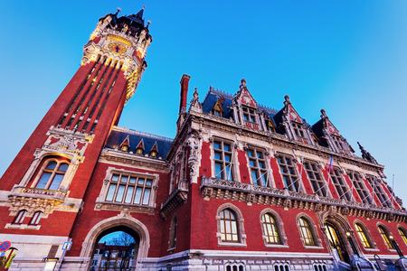 calais: Calais city hall. Calais, Nord-Pas-de-Calais-Picardy, France.