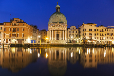 veneto: San Simeone Piccolo Church by Grand Canal. Venice, Veneto, Italy