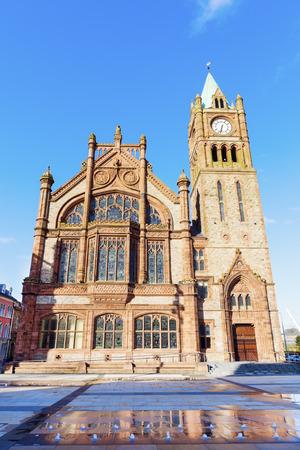 northern ireland: Guildhall in Derry. Derry, Northern Ireland, United Kingdom.