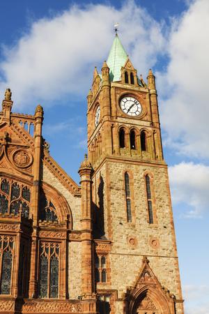 northern ireland: Guildhall in Derry Derry, Northern Ireland, United Kingdom.