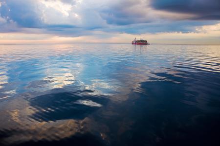 intake: Water intake on Lake Michigan. Chicago, Illinois, USA. Stock Photo