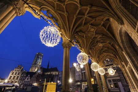 flemish region: Mechelen City Hall. Mechelen, Flemish Region, Belgium Editorial