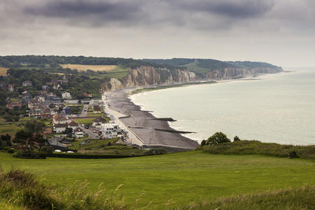 normandy: Beach in Dieppe area. Dieppe, Normandy, France