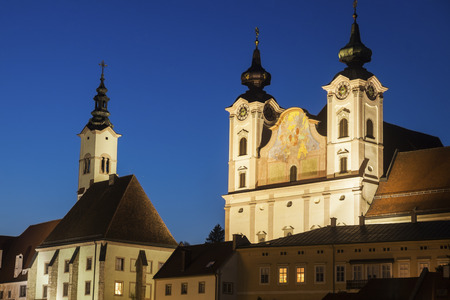 upper austria: Steyr panorama with St. Michaels Church. Steyr, Upper Austria, Austria..