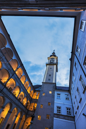 upper austria: Landhaus in Linz. Linz, Upper Austria, Austria. Stock Photo