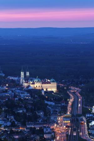Klosterneuburg Monastery seen at sunset. Vienna, Austria.