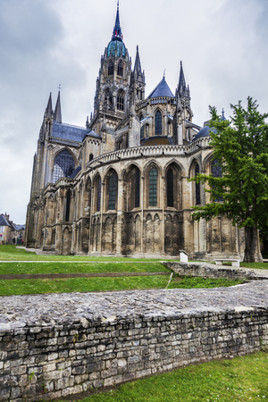 Bayeux Notre-Dame Cathedral. Bayeux, Normandy, France.
