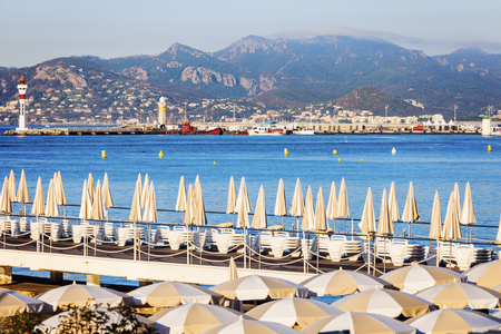 alpes maritimes: Lighthouses in Cannes. Cannes, Provence-Alpes-Cote dAzur, France Stock Photo