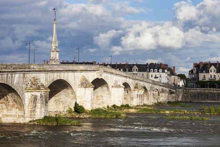 jacques: Jacques Gabriel Bridge in Blois. Blois, Pays de la Loire, France