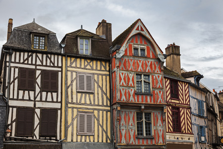 burgundy: Old architecture of Auxerre. Auxerre, Burgundy, France