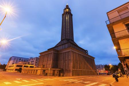 st  joseph: Church of St. Joseph in Le Havre. Le Havre, Normandy, France