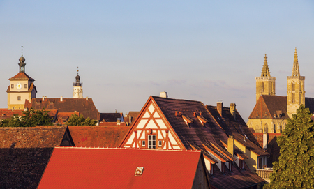 st jamess: Rothenburg panorama with St. Jamess Church. Rothenburg, Bavaria, Germany