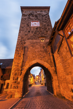bayern old town: Siebersturm in Rothenburg. Rothenburg, Bavaria, Germany