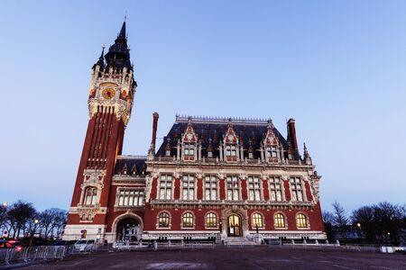 calais: Calais City Hall. Calais, Nord-Pas-de-Calais-Picardy, France. Stock Photo