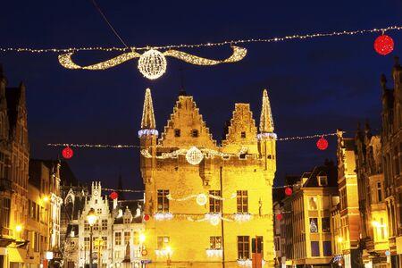 flemish region: Aldermens House in Mechelen. Mechelen, Flemish Region, Belgium Stock Photo