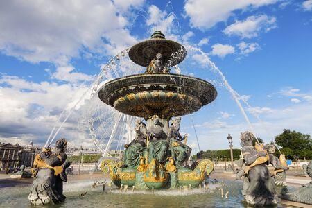 fontaine: Fontaine des Fleuves on Place de la Concorde in Paris in Paris. Paris, France