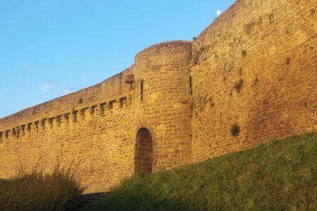 dinan: Cardinal Tower and city walls in Dinan. Dinan, Brittany, France