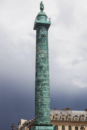 Place and Column Vendome in Paris. Paris, France