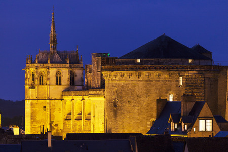 the loire: Chapel of Saint-Hubert in Amboise. Amboise, Pays de la Loire, France