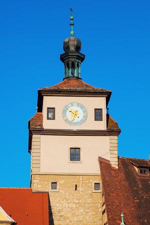 bayern old town: White Tower in Rothenburg. Rothenburg, Bavaria, Germany