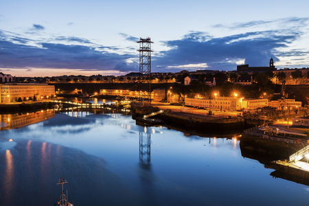 Penfeld River in Brest. Brest, Brittany, France.