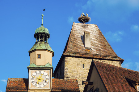 bayern old town: Roder Arch in Rothenburg. Rothenburg, Bavaria, Germany Stock Photo