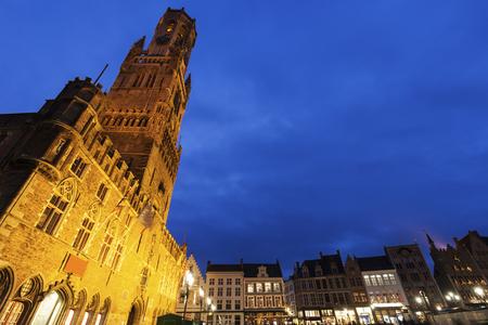 flemish region: Belfry of Bruges. Bruges, Flemish Region, Belgium Stock Photo