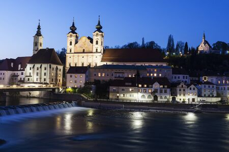 upper austria: Steyr panorama with St. Michaels Church. Steyr, Upper Austria, Austria.