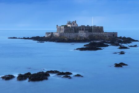 st malo: Fort National on island in St-Malo. St-Malo, Brittany, France