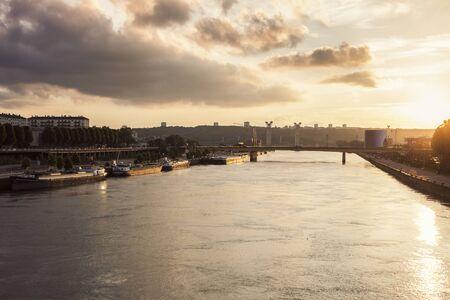 River Seine in Rouen. Rouen, Normandy, France
