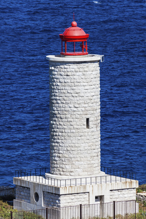 marseille: Lighthouse on If island in Marseille. Marseille, Provence-Alpes-Cote dAzur, France. Stock Photo