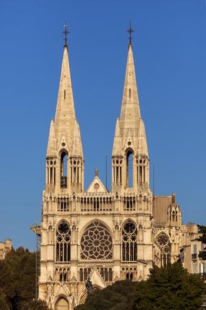 d'azur: Saint-Vincent-de-Paul Church in Marseille. Marseille, Provence-Alpes-Cote dAzur, France. Stock Photo