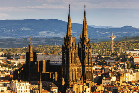 Clermont-Ferrand Cathedral. Clermont-Ferrand, Auvergne-Rhone-Alpes, France.