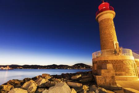 Saint-Tropez Lighthouse. Saint-Tropez, Provence-Alpes-Cote dAzur, France.
