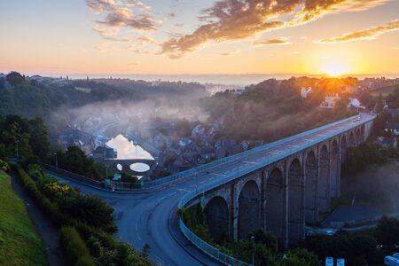 dinan: Sunrise in Dinan. Dinan, Brittany, France